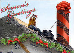 Festive Roofing Holiday Card