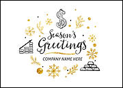 Financial Icons Christmas Card