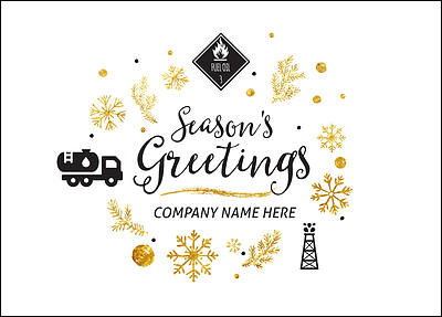 Fuel Oil Holiday Card (Glossy White)