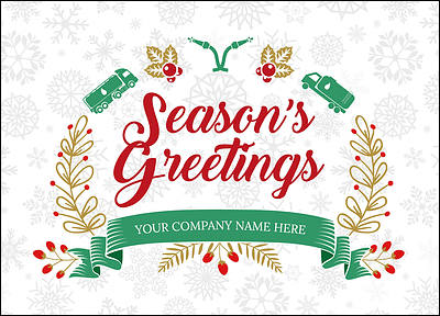 Fuel Snowflake Christmas Cards Personalized For Your Business