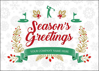 Personalized Christmas Cards For Your Business - Card template free: golf christmas cards