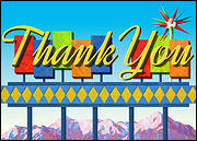 Googie Thank You Card