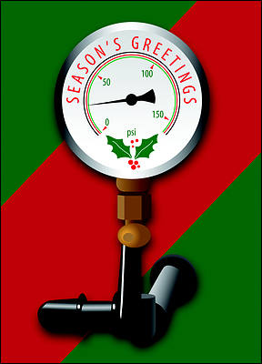 Holiday AC Gauge (Glossy White)