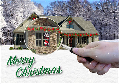 Home Inspection Christmas Card (Glossy White)