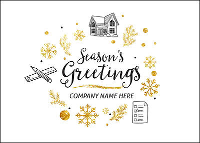 Home Inspectors Holiday Card (Glossy White)