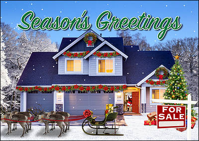 Home Sale Christmas Card (Glossy White)