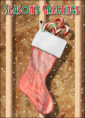 Insulation Christmas Card Stocking (Glossy White)