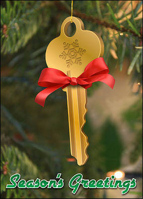 Key Ornament (Glossy White)