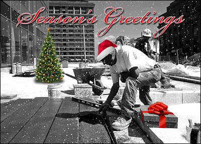 Laborers Greeting Card (Glossy White)