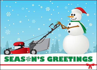 Lawn Care Holiday Card (Glossy White)