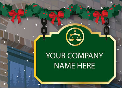 Lawyer Holiday Cards Personalized For Your Business