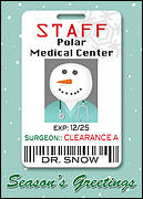 Medical Christmas Card Badge