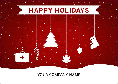 Medical Ornaments Holiday Card (Glossy White)