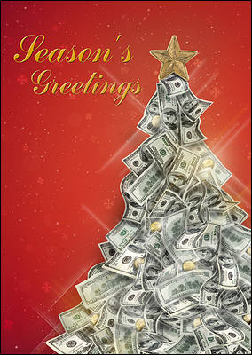money tree christmas cards personalized for your business