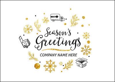 Company Christmas Cards.Moving Company Christmas Card Glossy White 2266