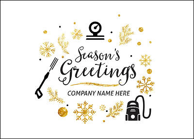 Power Washing Holiday Card (Glossy White)
