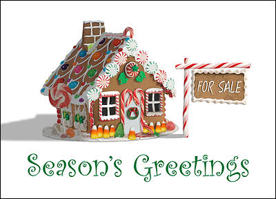 Real Estate Holiday Card (Glossy White)