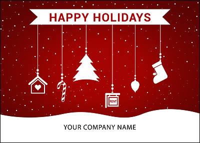 Realtors Ornaments Holiday Card (Glossy White)
