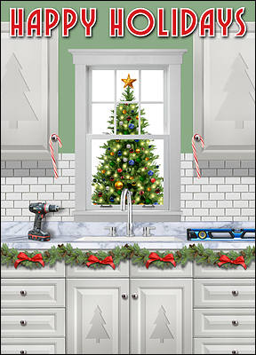 Remodeled Kitchen Holiday Card (Glossy White)