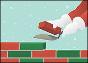 Santa Bricklayer