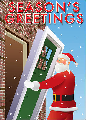 Santa Door Installation Card (Glossy White)