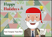 Santa Engineers Christmas Card
