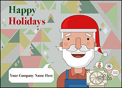 Santa HVAC Christmas Card