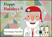 Santa Optometrists Christmas Card