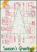 Schematic Holiday Card