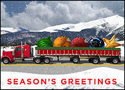 Semi Truck Christmas Card