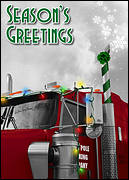 Semi Truck Greeting Card
