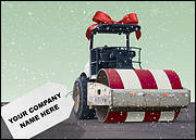 Steamroller Christmas Card