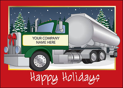 Tanker Holiday Card (Glossy White)