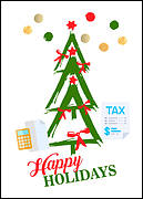 Tax Tree Holiday Card