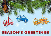 Tow Truck Christmas Card