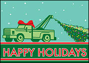 Tow Truck Greeting Card