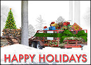 Tree Service Holiday Card