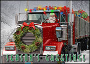 Trucking Holiday Card