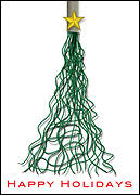 Wire Christmas Tree Card