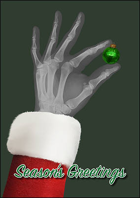 X-Ray Ornament Christmas Card (Glossy White)